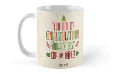 Buddy the Elf! World's Best Cup of Coffee 11 Oz 15 Oz mugs, Christmas