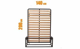 Vertical Wall Bed 140x200(Folding Bed, Hidden Bed, Guest Bed, Pull-out Bed),Clearance