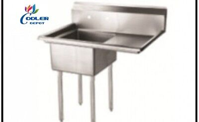 New 18 Stainless Steel Sink Right Compartment Commercial Kitchen Restaurant Nsf