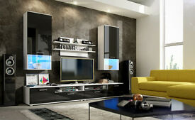 ✨✨✨ LUX WALL UNIT GLOSSY ENTERTAINMENT UNIT ✨✨✨ £234 MATTE £214