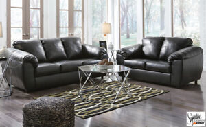 Leather like Sofa and Loveseat