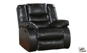 Black Leather look Recliner