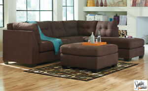 Walnut sectional by Ashley Furniture