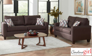 Chocolate Sofa and Loveseat