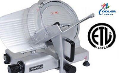 New 12 Commercial Electric Meat Deli Slicer Model Sl12e Nsf Etl Certified