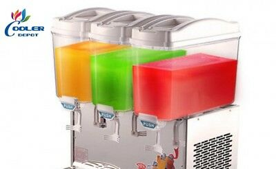 3 Compartment Beverage Juice Drink Dispenser Machine Agua Fresca Model Bd3