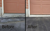 Hot Asphalt Garage Ramps!End of Driveway Ramps! Pot Holes Fill!