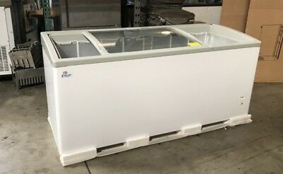 72 Chest Freezer Commercial Mobile Ice Cream Glass Display Nsf Cooler Depot