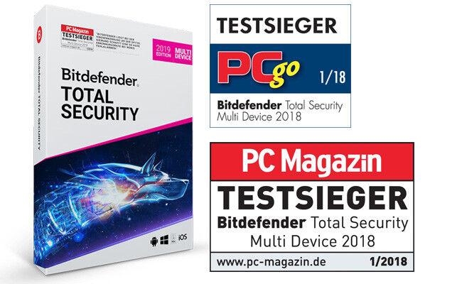 Bitdefender Total Security 2019 Multi-Device 5 Geräte (PC) 1 Jahr (365 Tage)