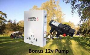 Smartek 6 HWS. Portable gas hot water - on demand! PMX Campers Wanneroo Wanneroo Area Preview