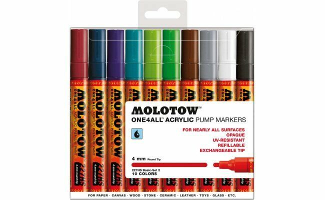 Molotow  Refillable ONE4ALL Acrylic Pump Markers Basic Set 2