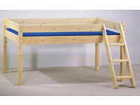 Thuka Maxi single pine mid-sleeper bunk bed for sale - used, but in good condition. £40.