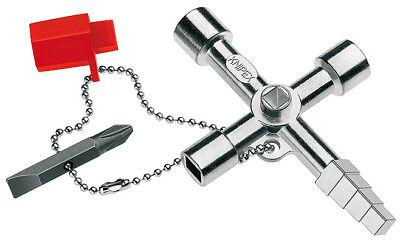 KNIPEX Multifunktionsschlüssel Profi-Key - für gängige Absperrsysteme, 90 mm