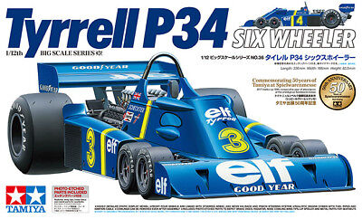 Tamiya Tyrrell P34 Six Wheeler w/Photo Etched 1/12 model car kit new 12036 *