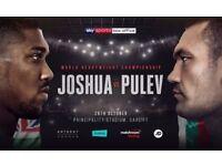 2 Anthony Joshua v Kubrat Pulev Tickets - Lower Tier *BELOW FACE VALUE*