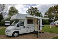 Peugeot Elldis Motorhome 4/5 Berth, Drive away Blow up Awning, 4 Factory fitted Seat Belts.