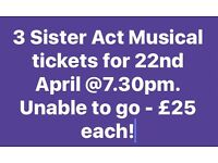 Sister Act Musical Tickets - 22/4/17 at 7.30pm.