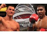4 Anthony Joshua tickets for sale