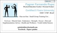 Certified 5 Years University Personal Trainer !!!!