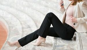 Betabrand  Straight-Leg | Black Dress Pant Yoga Pants