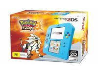 New | Special Edition Nintendo 2DS Console + Pokemon Sun Game (Pre-Installed)