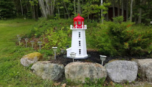 Lighthouse of Peggy's Cove with solar lighting 3 foot