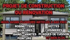 Articles variés pour la rénovation et la construction