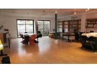 Bright airy contemporary office space to share in Leith