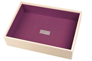 Stackers Jewellery Box Cream  Deep Open Purple Lined NEW  15386