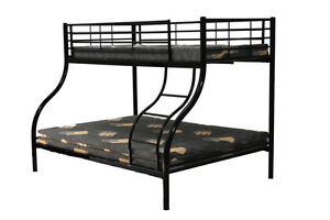 Trio bunk - single top - double bottom - Black *FREE DELIVERY WITHIN METRO MELB*