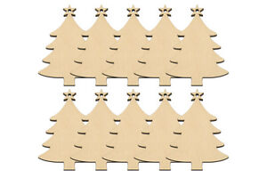 10-Wooden-CHRISTMAS-TREE-Hanging-Decoration-Tag-Shapes-Art-Craft-Embellishment