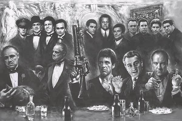 Gangsters Movie Poster - Sopranos Full Size 24x36 Godfather Goodfellas Scarface