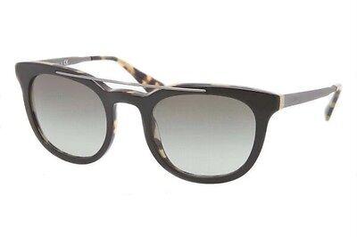 Prada 0pr 13 Ps Nai 0a7 Top Black/medium Havana & Grey Gradient Mens Sunglasses