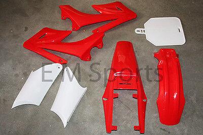 Apollo Dirt Pit Bike Fairings Plastic Body Kit Parts RED 110cc 125cc 140cc 150cc