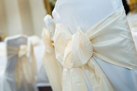 50P Wedding Party Chair Cover Hire ** ALL ORDERS THIS MONTH * Table Cloths from��3.50*