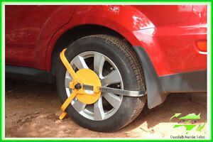 New 13-16'' Security Wheel Clamp Lock Car Tyre Trailer Boat Caravan With 2 Keys