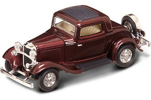New In Box ! 1/43 Scale 1932  FORD 3 Window Coupe for MTH,Lionel & K-Line
