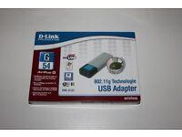 D-Link USB Adapter, DWL-G122, AirPlus G, inkl. Standfuß, NEU+OVP Saarland - Dillingen (Saar) Vorschau