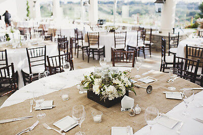 40 Burlap Table Runners 18 X 120 Extra Wide Wedding Event 100% Natural Jute