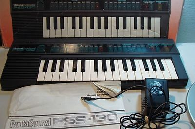 Buy electronic music - Yamaha Portasound Pss-130 Electronic Music Keyboard Synthesizer Sampler Vtg 80\'s