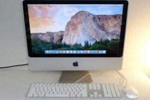 4 gb Ram 20 inch iMAC Apple 320gb HDD Intel Core 2 Dou Camera & WiFi OSX 10.11.5 El Capitan Fast $149 only