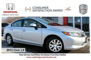 2012 Honda Civic LX NO ACCIDENTS | BLUETOOTH