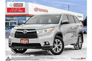 2014 Toyota Highlander LE One Owner, No Accidents, Toyota Ser...