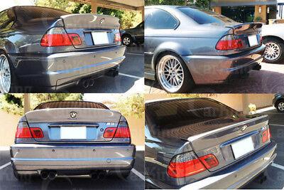 CARKING DIY // 99 to 06 PRIMED BMW E46 SEDAN CSL style TRUNK SPOILER