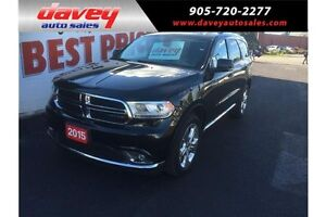 2015 Dodge Durango Limited ALL WHEEL DRIVE, DVD, 7 SEATER