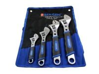 "BERGEN Pro 4pc ADJUSTABLE WRENCH / SHIFTING SPANNER SET 6"" 8"" 10"" 12"""
