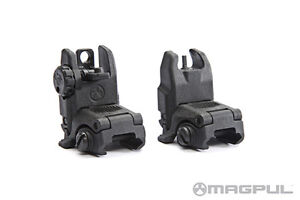 Magpul-MBUS-Gen-2-Black-Set-Front-Rear-Flip-Up-Back-Up-BUIS-Sights-NEW