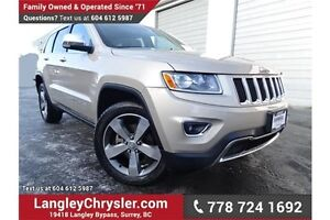 2015 Jeep Grand Cherokee Limited LOCALLY DRIVEN & ACCIDENT FREE