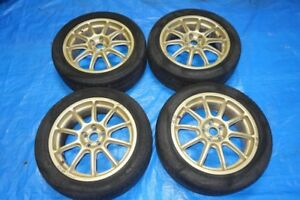 JDM Subaru Rims Wheels OZ Racing 5x100 5x100 17x7 +52 Gold