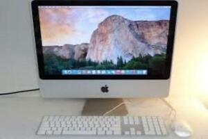 "Apple iMac 8 gb Ram All in One 20"" inch W Screen 500 gb Hard Drive Storage OSX 10.10.5 Yosemite Webcam Wi-Fi $290"